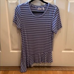 LOGO blue and purple striped T a-line bottom sizeS